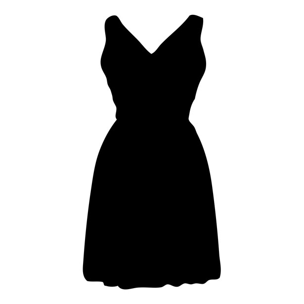 Silhouette Dress - ClipArt Best