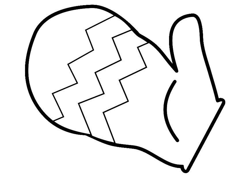Mittens Coloring Page