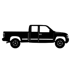 Metal Wall Art Silhouettes Of Trucks Vehicles Chevy