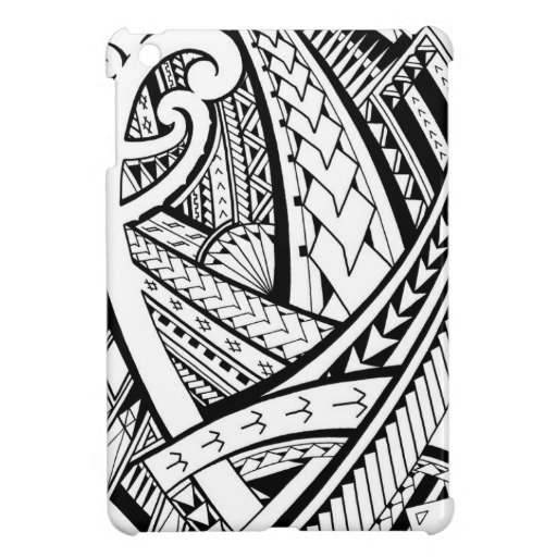 Samoan Art Designs : Samoan tribal tattoo design with spearheads ipad mini case