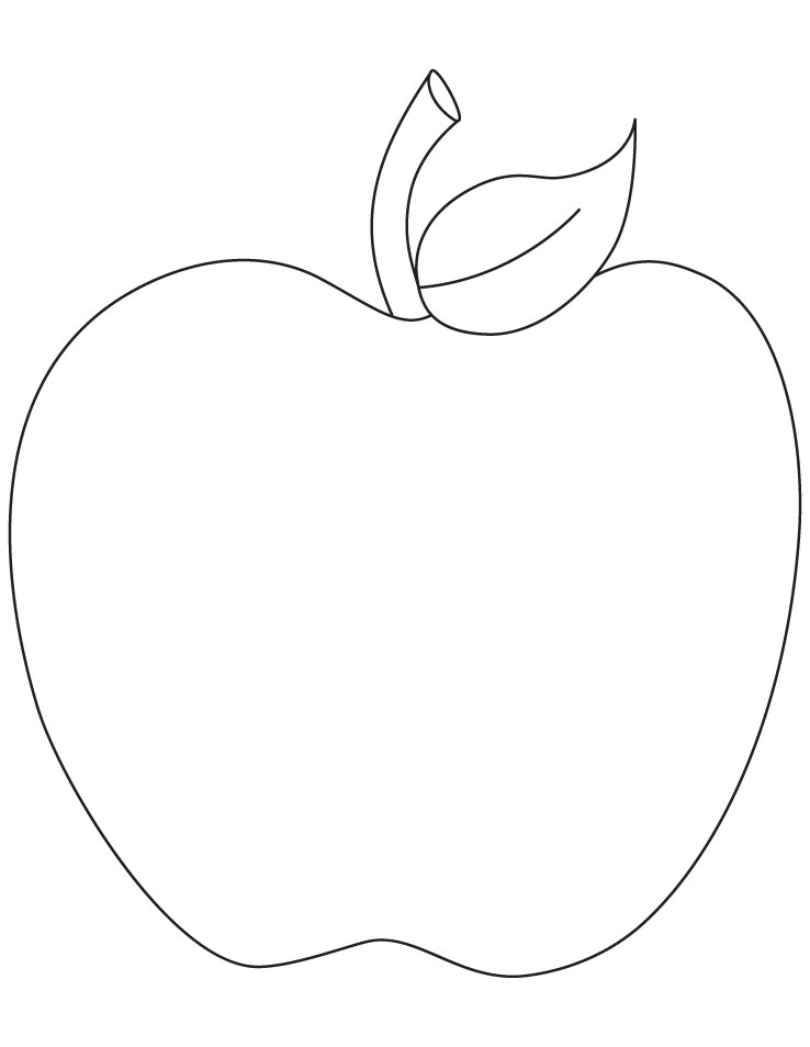 Free Printable Coloring Page Apple
