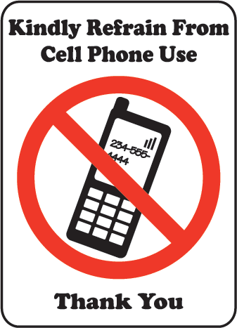 Cell Phone Sign - ClipArt Best