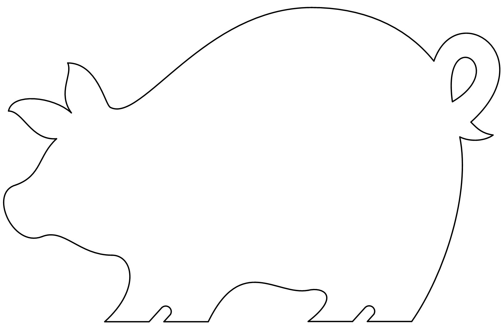 Handy image in pig template printable