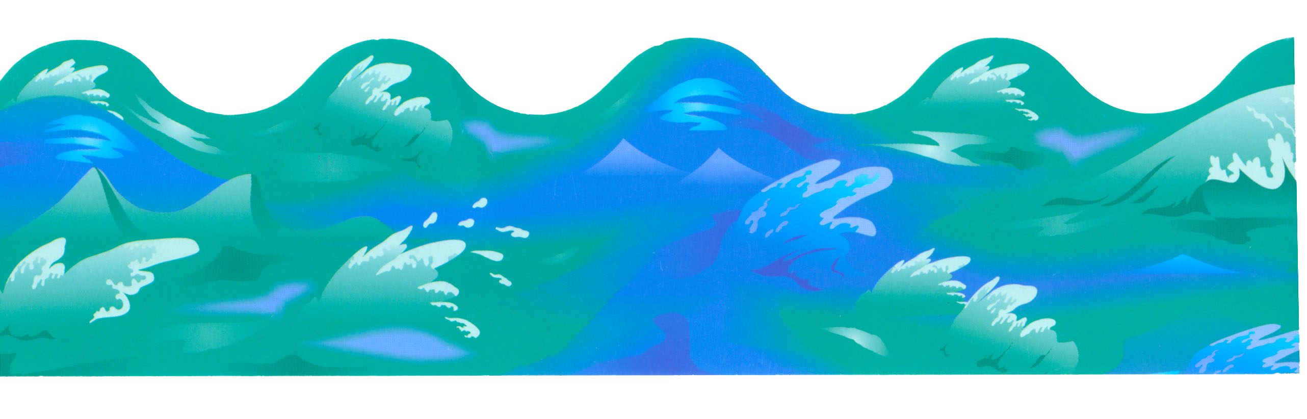 Cartoon Waves Clip Art