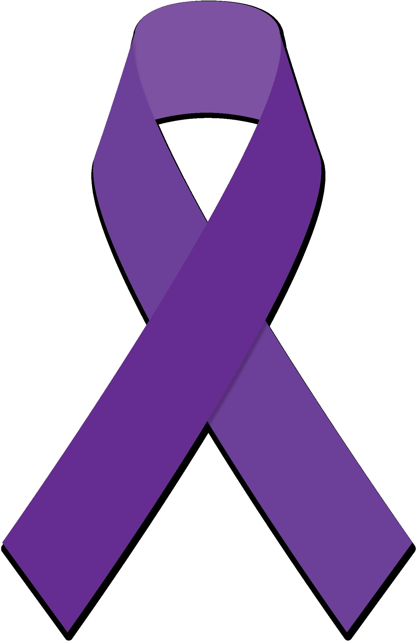 Purple Cancer Ribbon - ClipArt Best