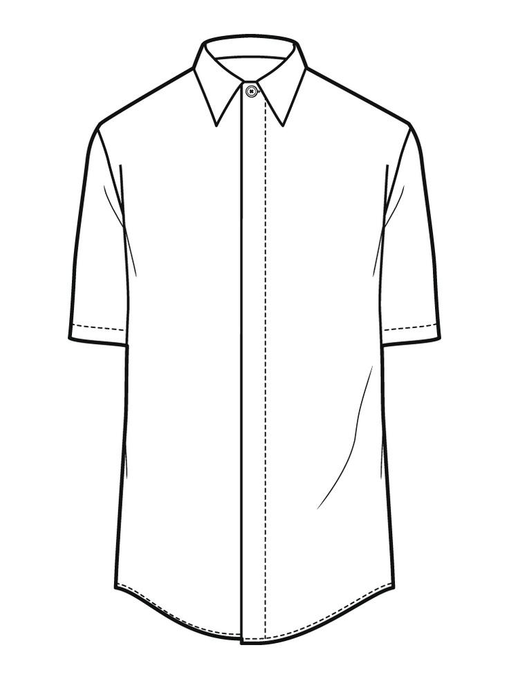Line Art Shirt : Line drawing shirt clipart best