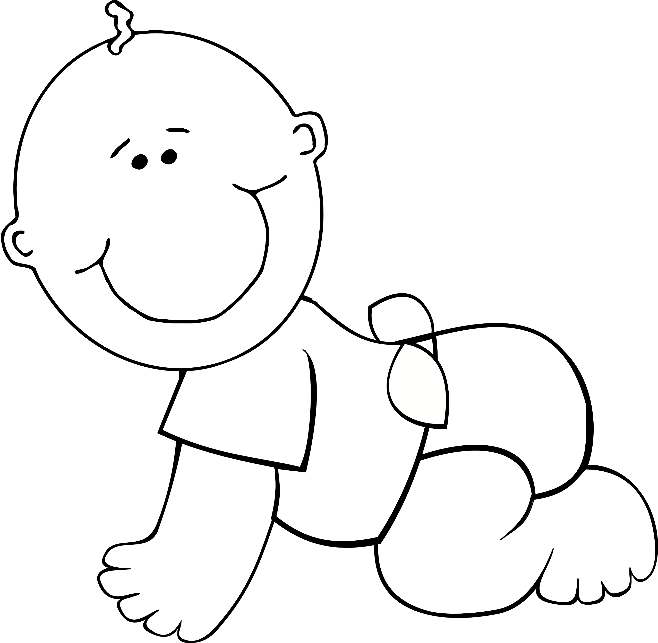 free clip art baby crawling - photo #19