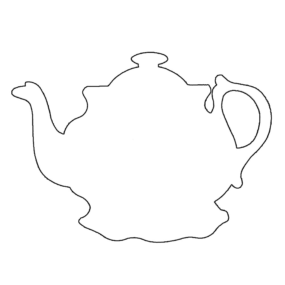 teapot coloring page - tea pot free colouring pages