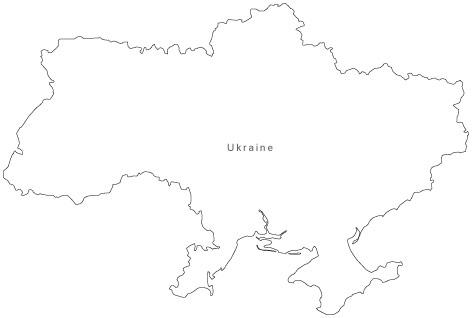 outline of ukraine
