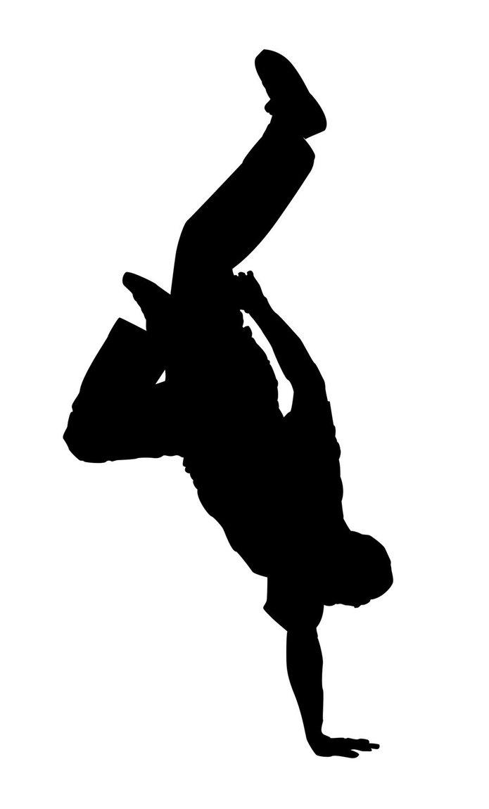 Hip Hop Dance Silhouette - ClipArt Best