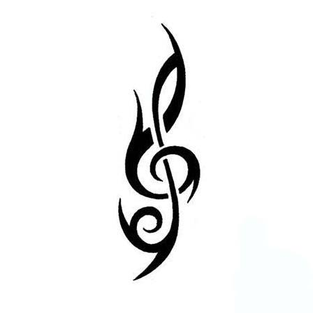 Clef Tribal Tattoo - ClipArt Best
