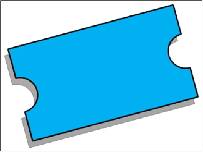 blue ticket outline clipart best ticket templates clipart best