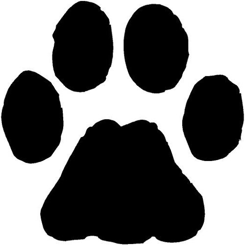 Dog Paw Print Template