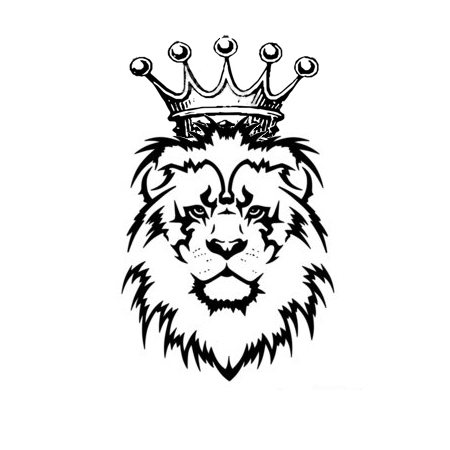 animals for gt lion head crown logo clipart best