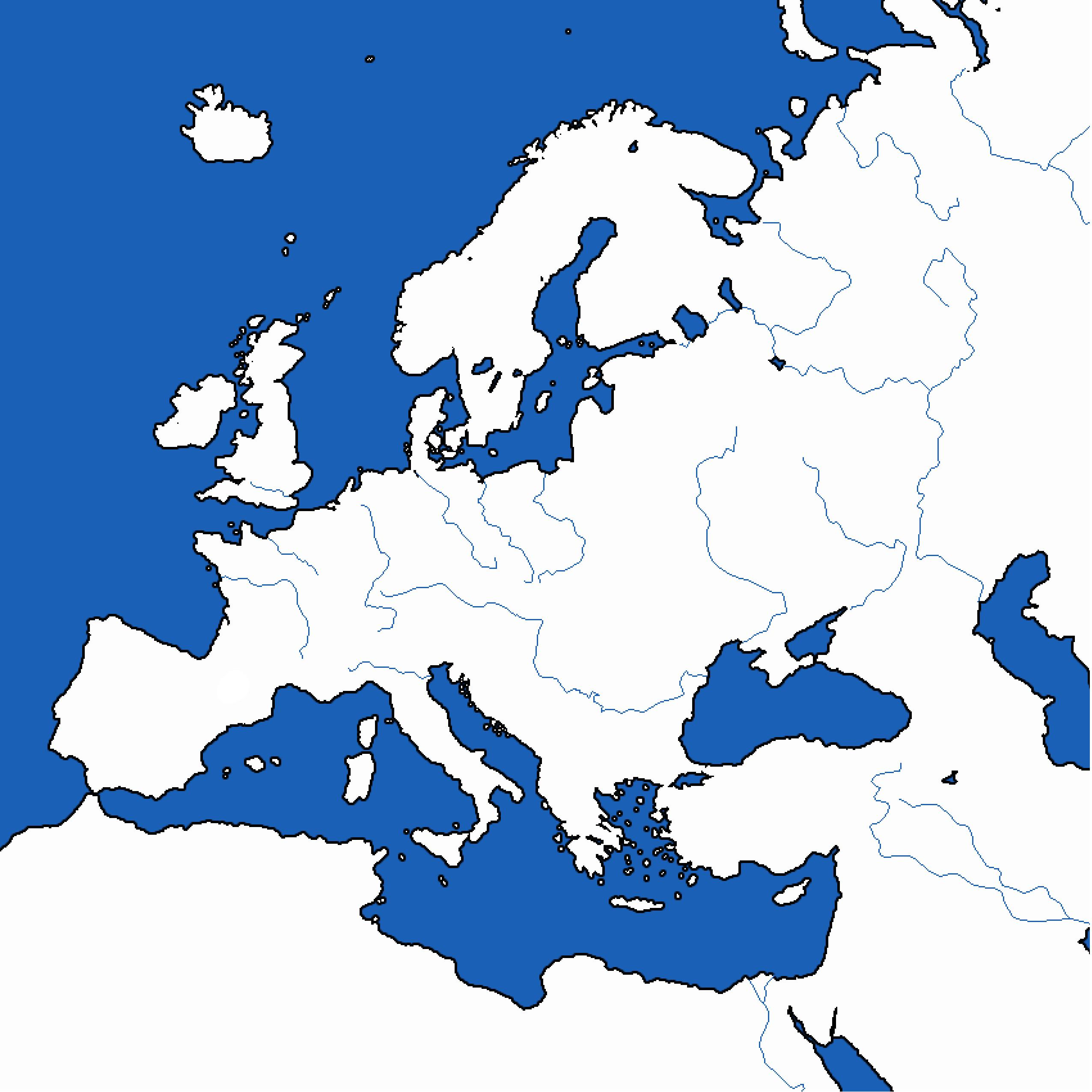 Black And White Map Of Europe Printable - ClipArt Best