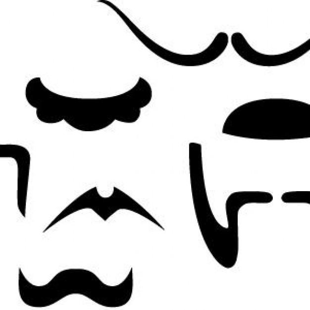 free vector mustache clip art - photo #35