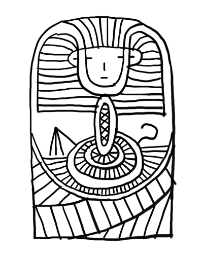 free coloring pages king tut - photo#22