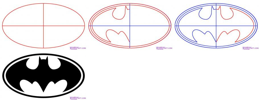 How to Draw the Batman Logo | How to Draw Batman
