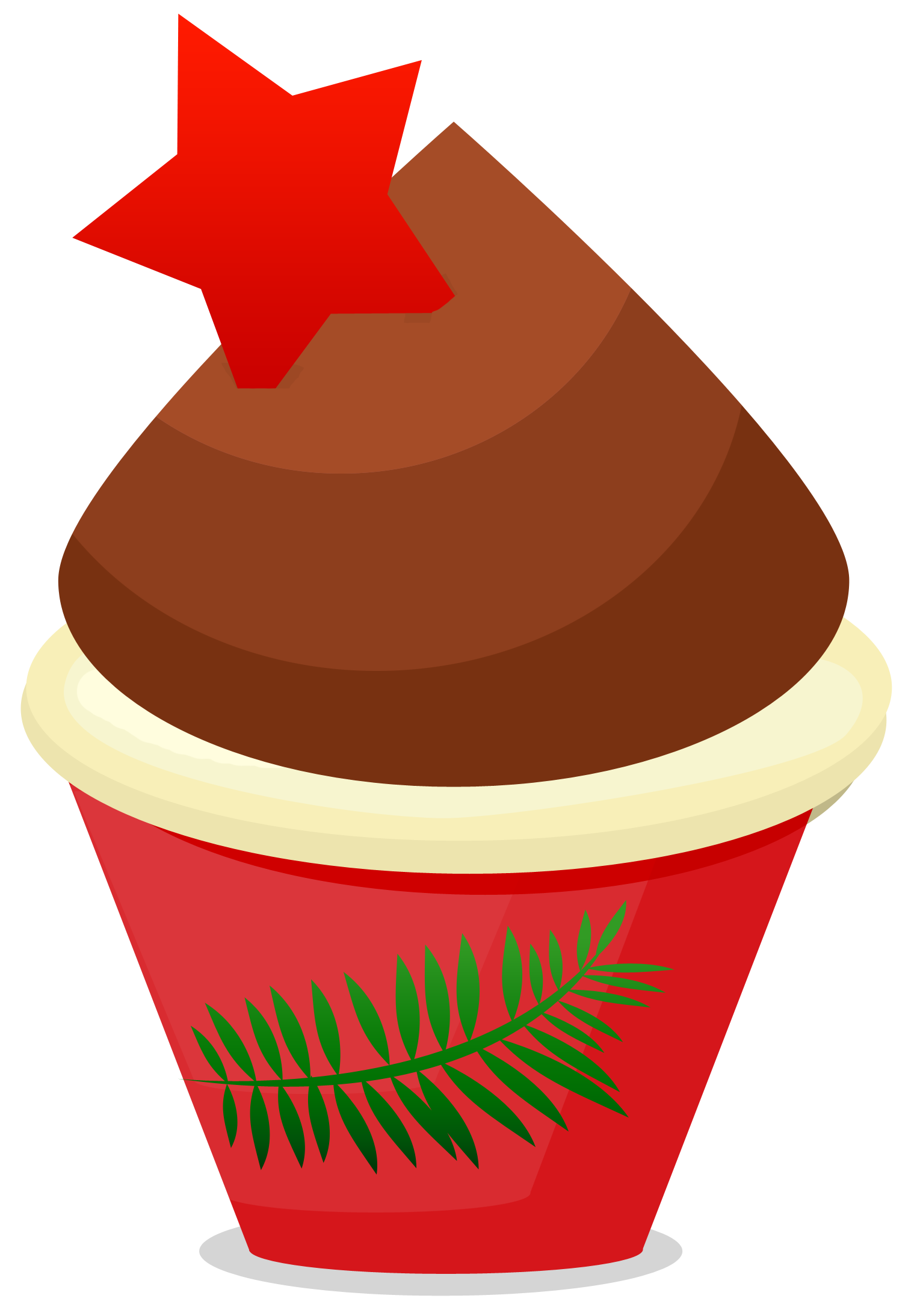 Red Cake Clipart : Cupcake Clipart Red - ClipArt Best