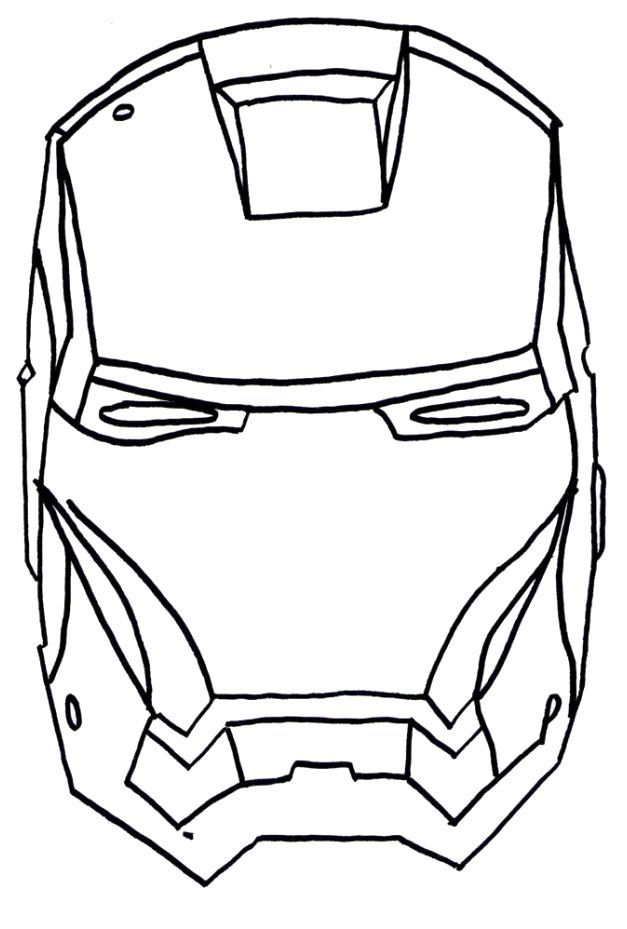 Ironman Head Outline - ClipArt Best