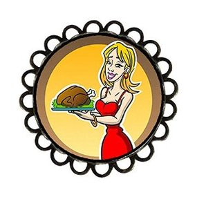 Chicforest Ancient Style Thanksgiving Sexy Woman Hold Turkey ...