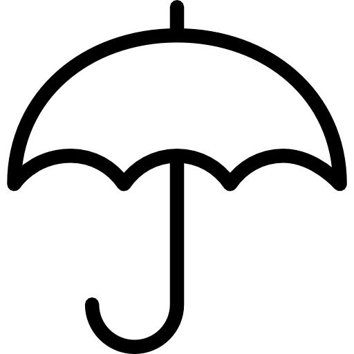 Umbrella Outline Clipart