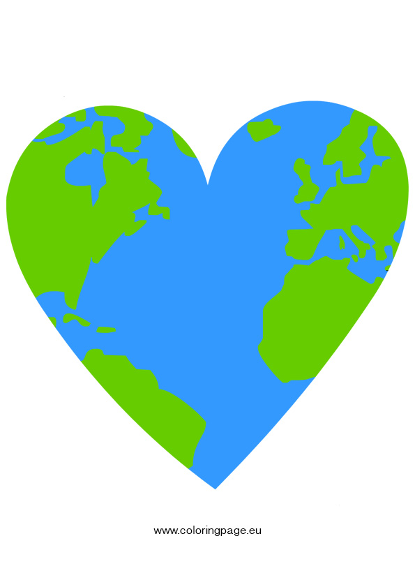 Earth Heart Coloring