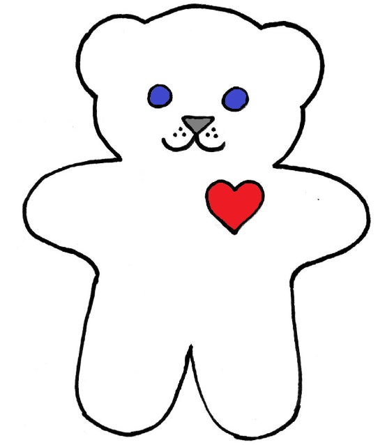 Best Photos of Small Bear Template - Teddy Bear Stencil Template ...