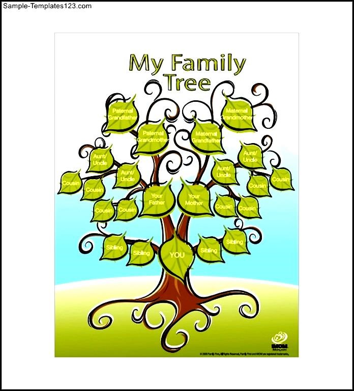 family tree template printable for kids clipart best