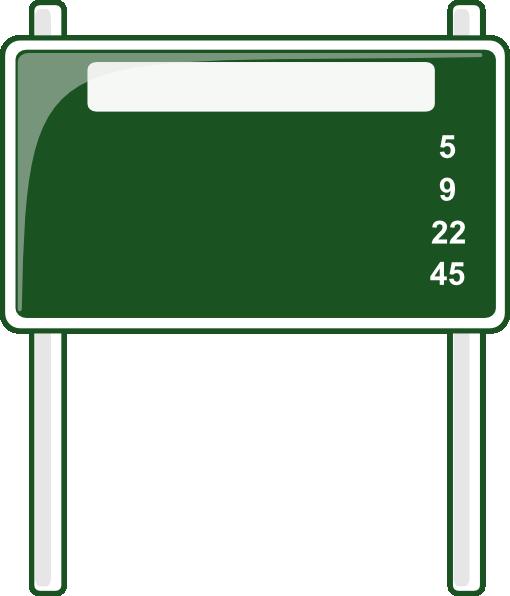 Blank Street Sign Template - ClipArt Best