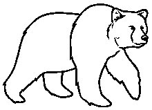 Best Photos of Grizzly Bear Outline - Grizzly Bear Outline ...