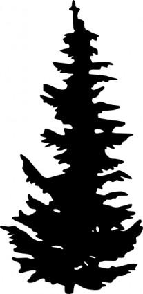 Pine Tree Silhouette Clip Art - ClipArt Best