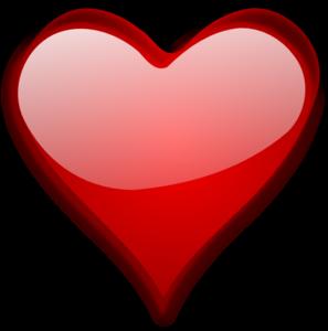 Glossy Red Heart clip art - vector clip art online, royalty free ...