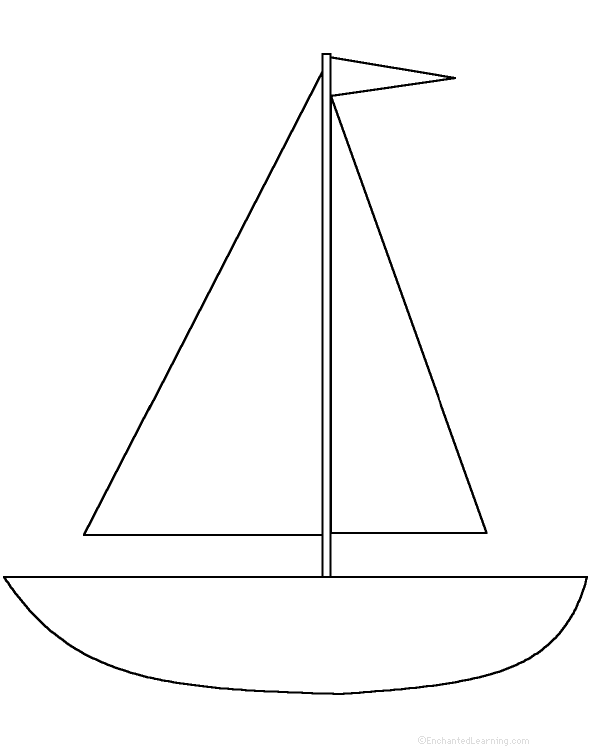 Fan image in boat template printable