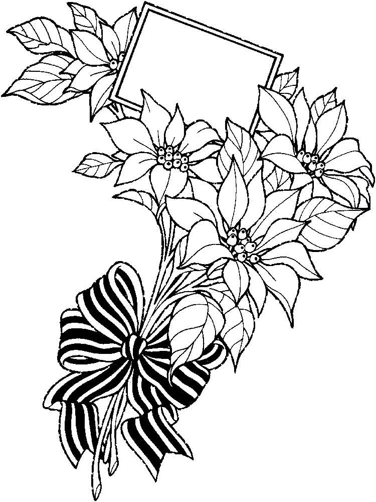 Flower Bouquets Coloring Pages 11