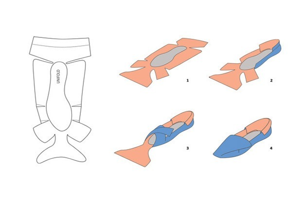 Printable, foldable shoes - PandaWhale