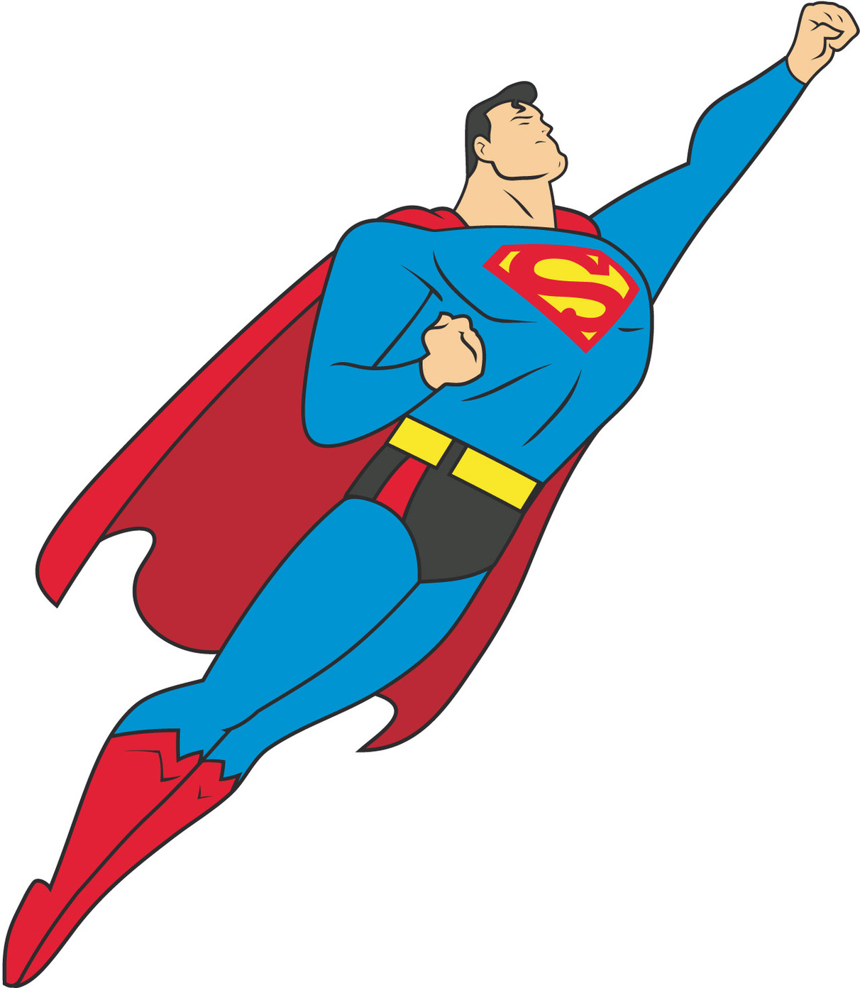 Free Superman Vector Art Clipart - Free to use Clip Art Resource
