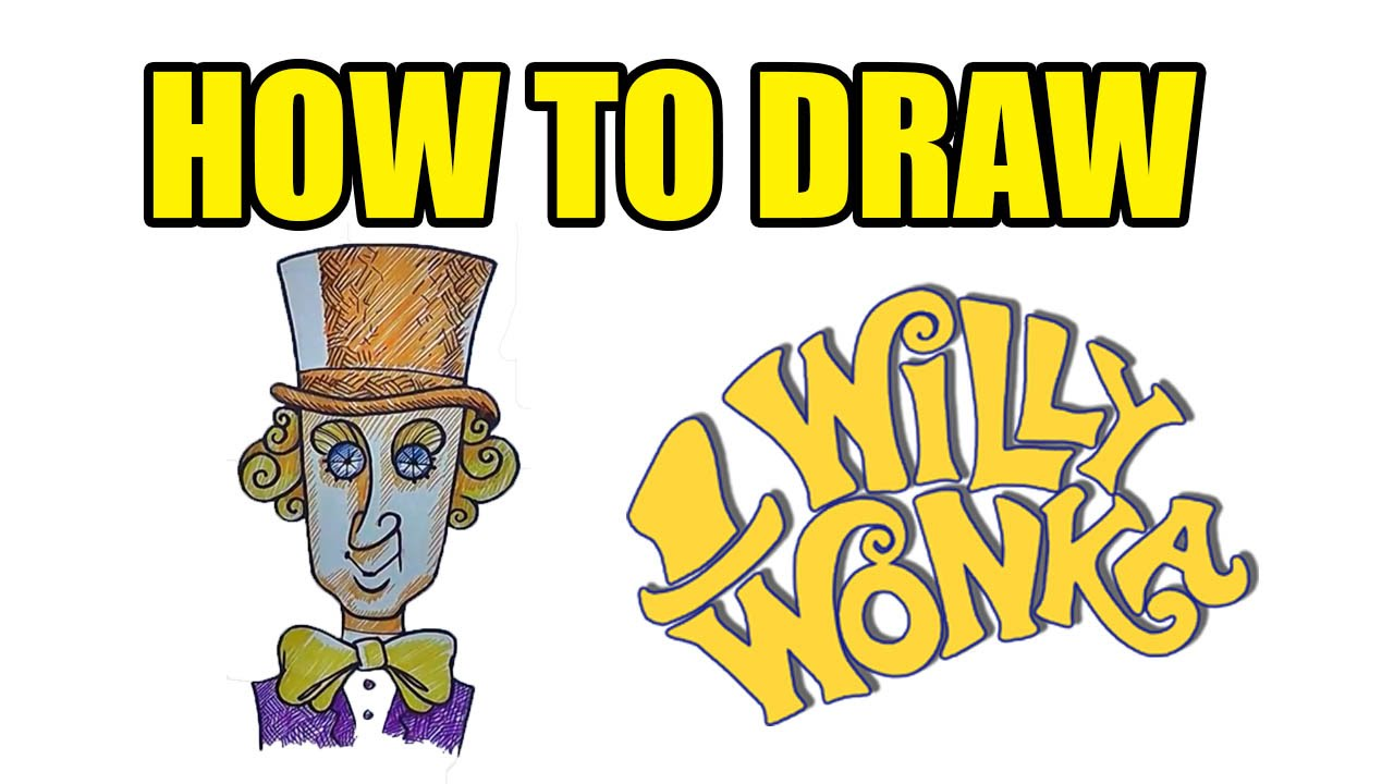 How To Draw Willy Wonka | Step By Step Drawing Lessons - YouTube