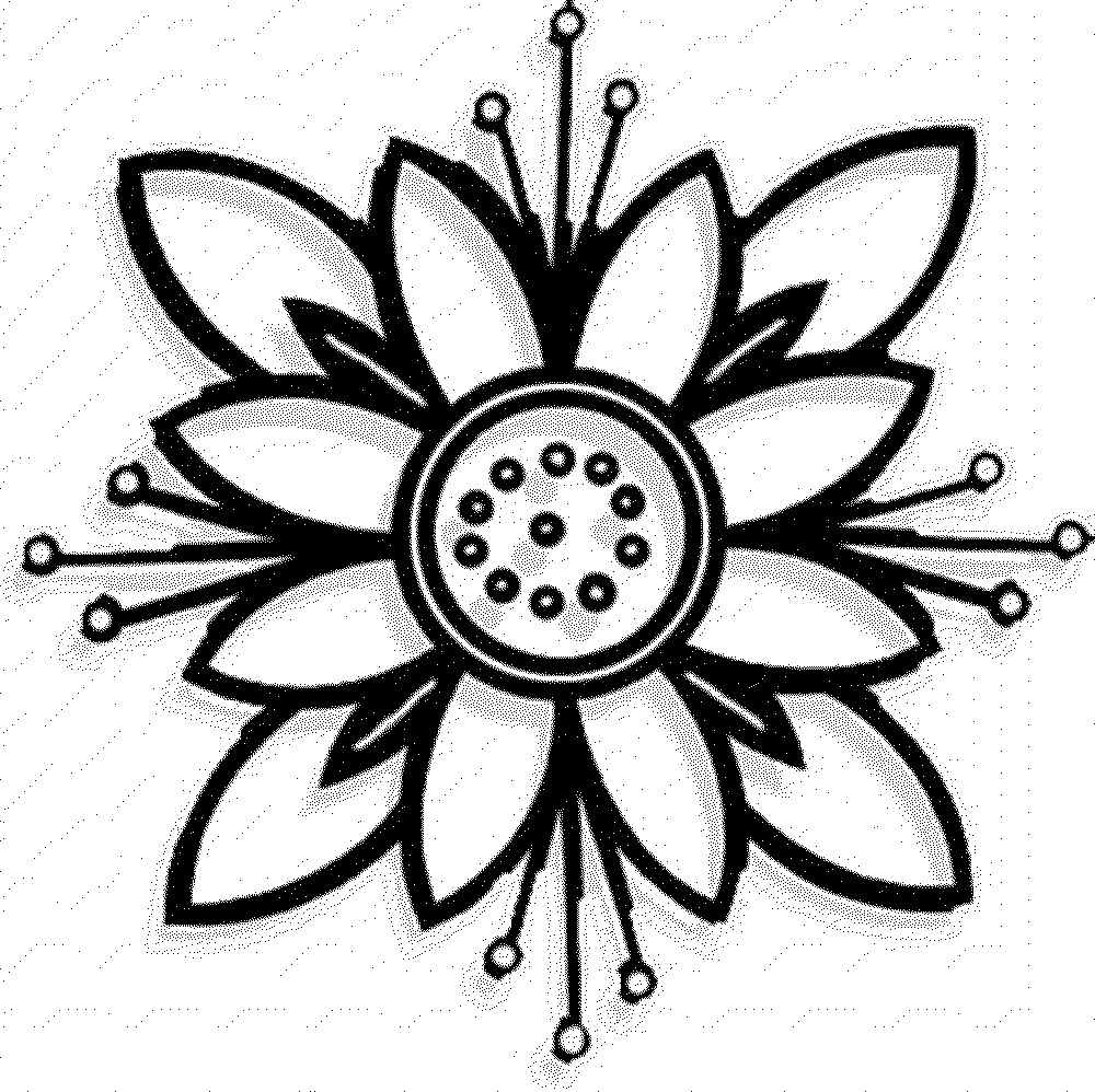 free printable easy flower coloring pages | Simple Flower Coloring Page - ClipArt Best