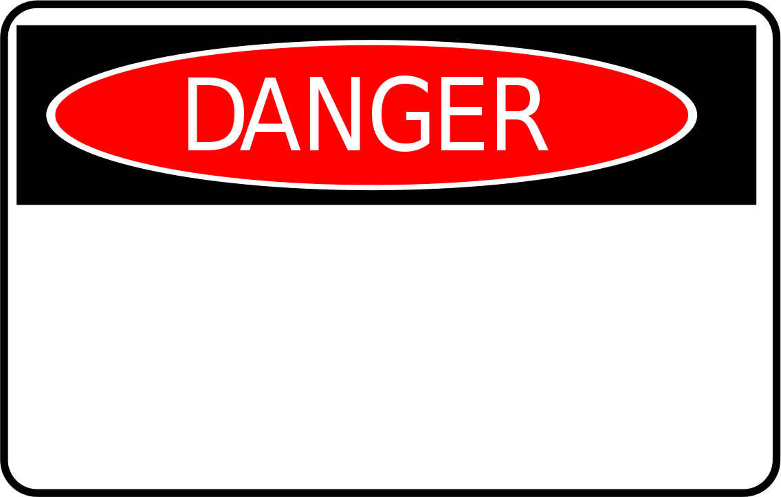 Dangwr Sign - ClipArt Best