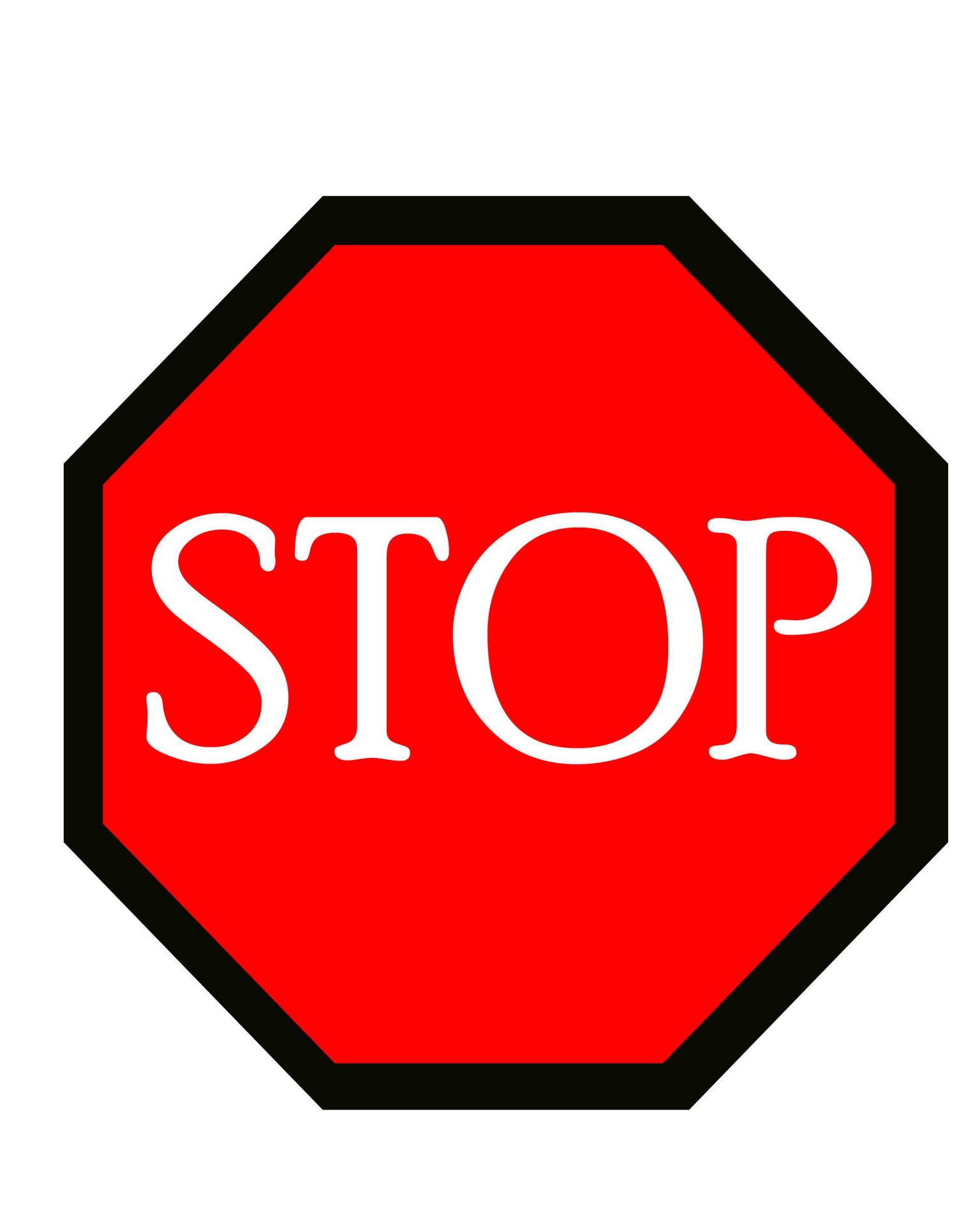Stop Sign Outline - ClipArt Best