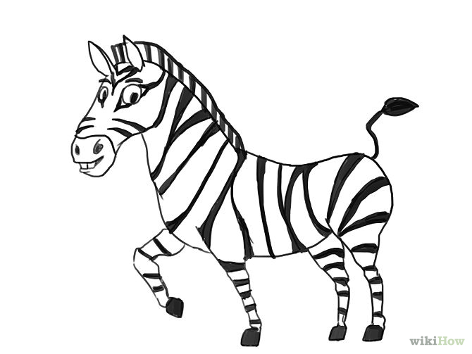 zebra outline drawing - photo #5
