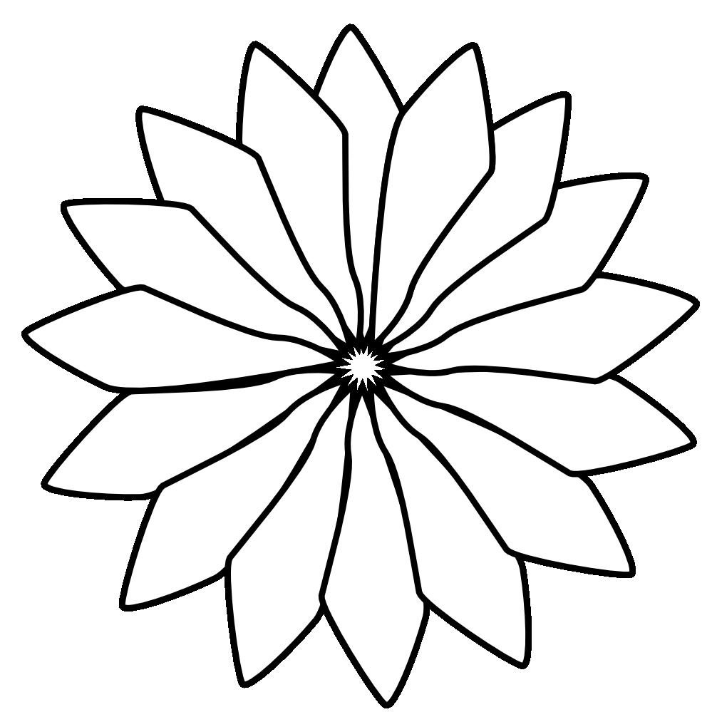 Flower Art Black And White Red Flower Black White Line