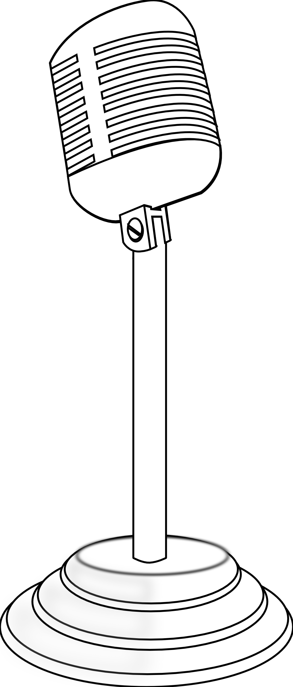 Line Art Microphone : Old mic vector clipart best