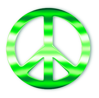 Green Peace Sign - ClipArt Best