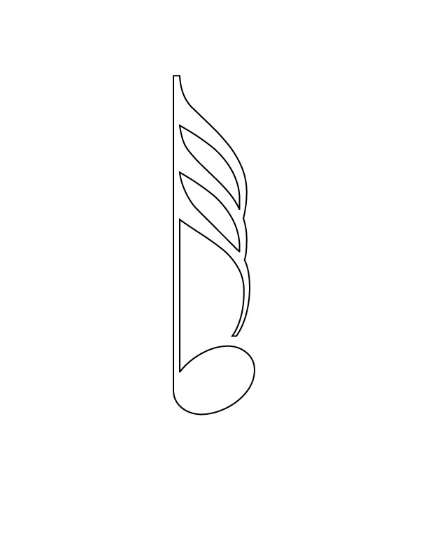 note coloring pages - printable music notes clipart best