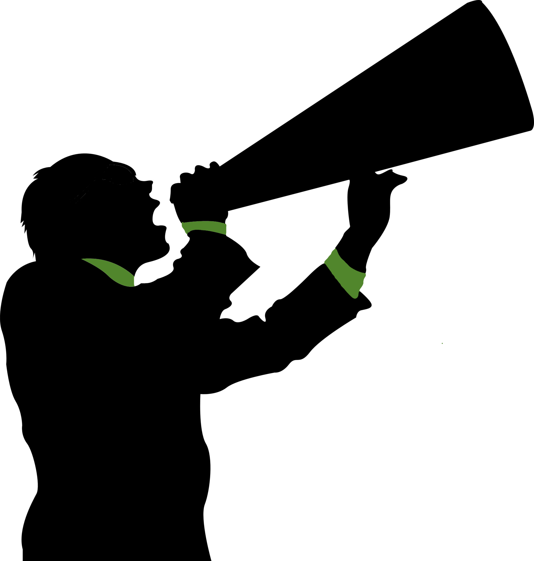 clipart man with megaphone - photo #26