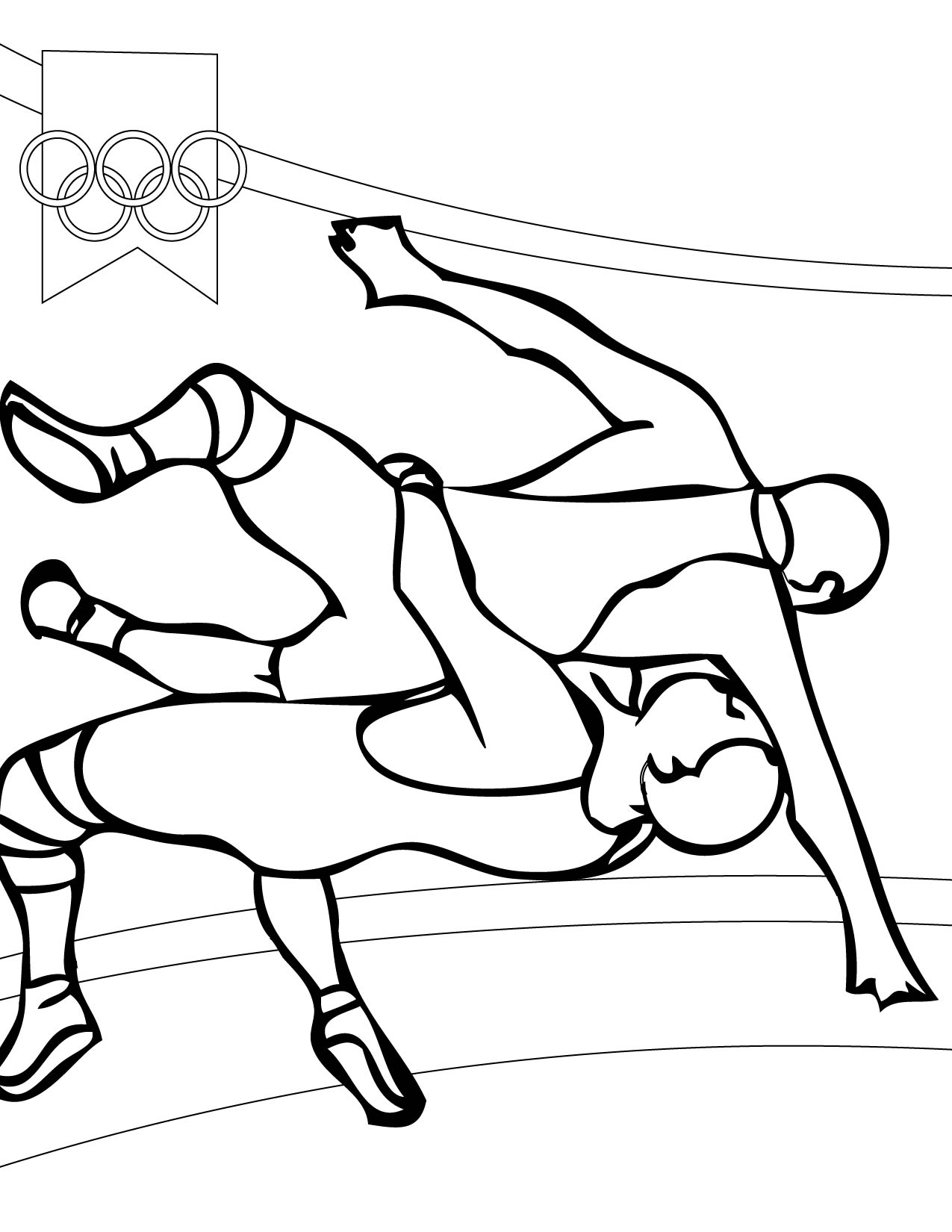 Coloring Pages Of High School Wrestlers