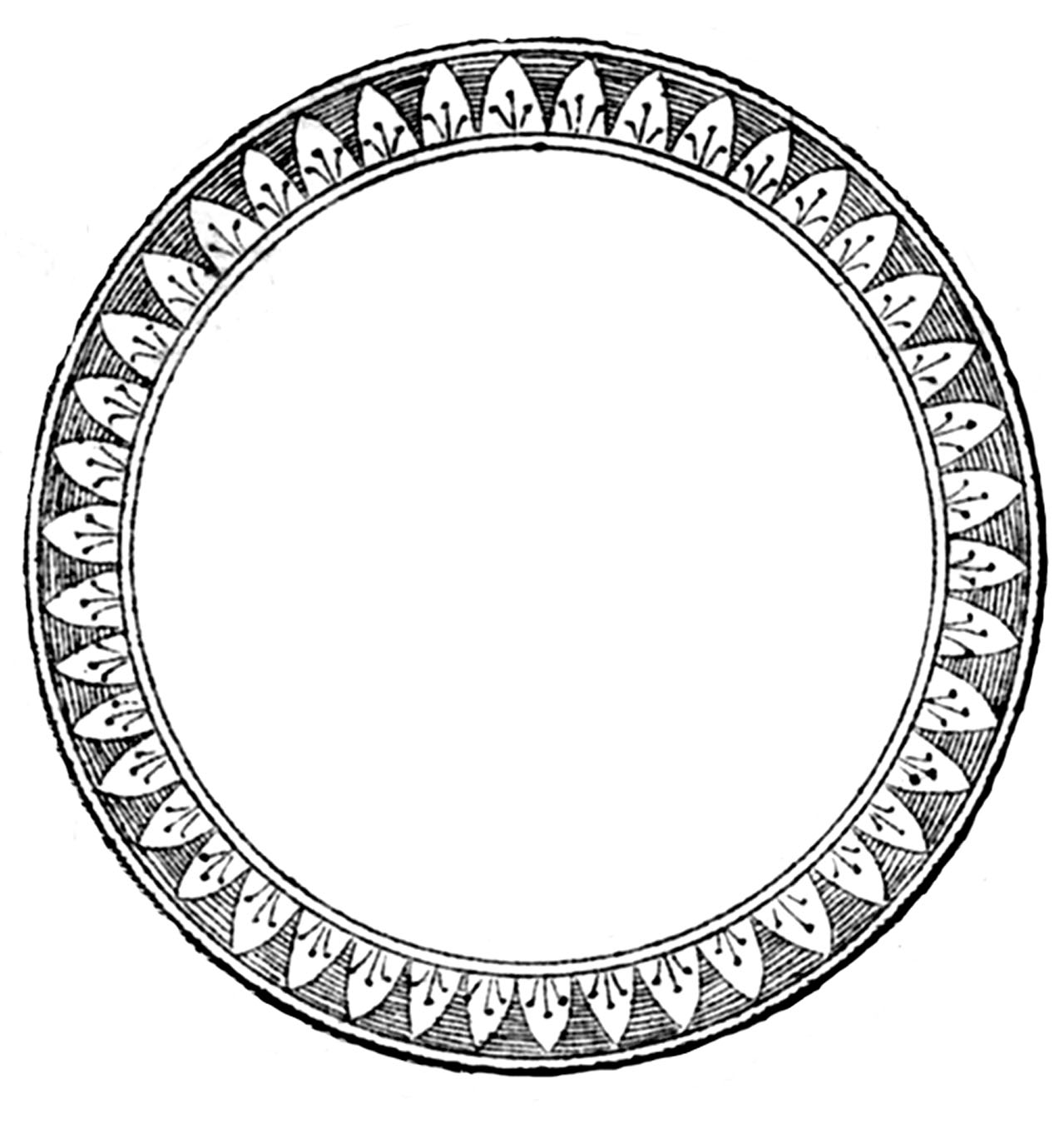 vintage clip art circle - photo #4