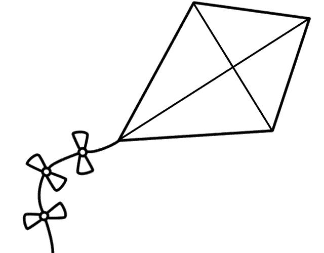 Kite Template For Kids Printable